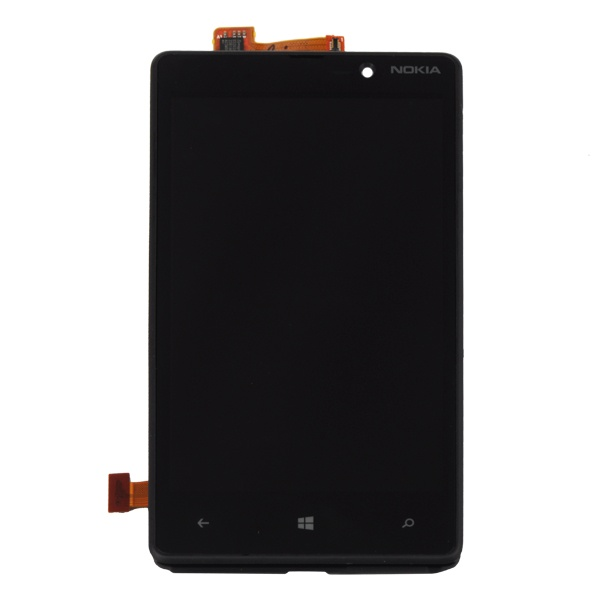 Nokia Lumia 820 Front Touch Screen & LCD Display Assembly with Frame
